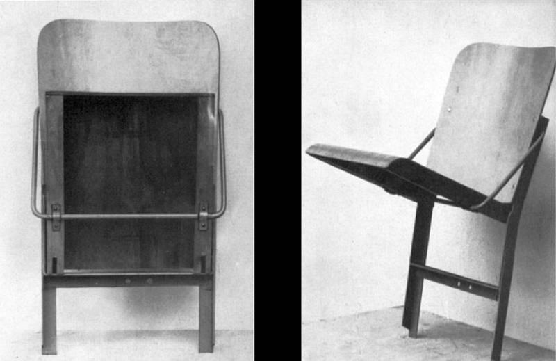 Klappstuhl design  Folkwang Schule 1948 - 1955 | Erster Studiengang 1948